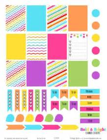 printable sticker templates bold and bright planner stickers free printable