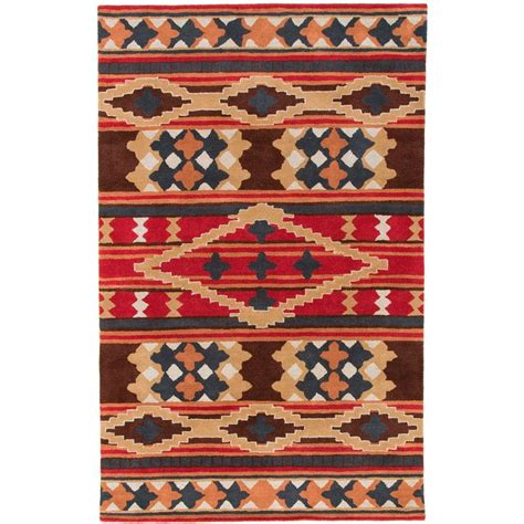 aztec rug idol tufted brown southwestern aztec perana wool rug