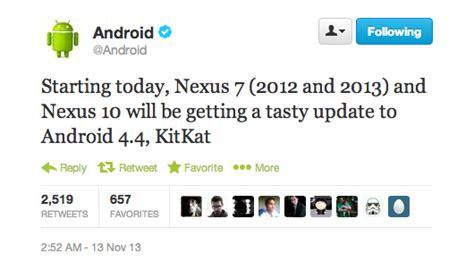 android 4 4 kitkat s invite sur les nexus 7 et nexus 10