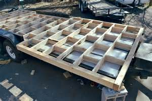 Finishing Up The Subfloor Frame Tiny Mountain House Tiny House Framing Plans On A Trailer