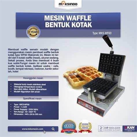 Mesin Waffle Mesin Waffle Hotdog jual mesin waffle bentuk kotak wf 60 di bogor toko mesin maksindo bogor