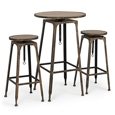 Corner Bar Table And Stools by High Bar Table