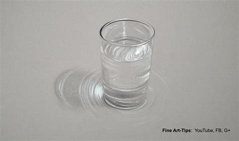 Gl Swarovzki Bola how to draw a glass of water hyperrealistic drawing
