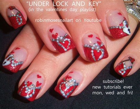 valentines day nails how to paint hearts easy nail nails raggedy