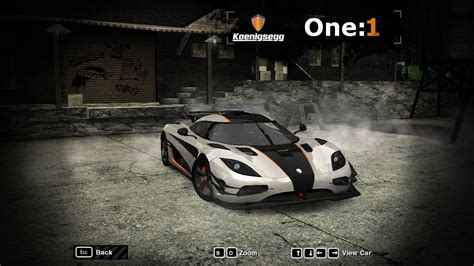 koenigsegg one top speed need for speed most wanted koenigsegg one 1 nfscars