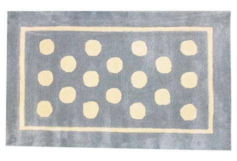 blue polka dot rug polka dot rug blue on onekingslane nursery