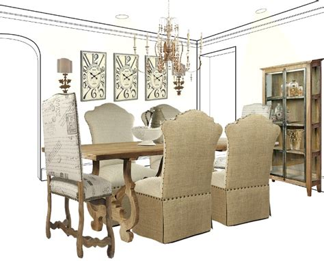 dining  casual elegance french country style dining