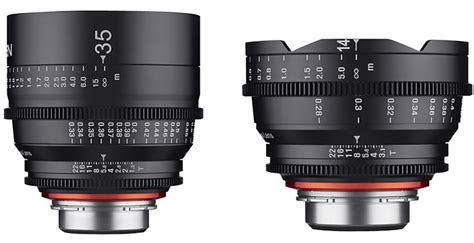 Samyang For Sony Xeen 14mm T3 1 samyang xeen 14mm t3 1 and 35mm t1 5 lenses announced