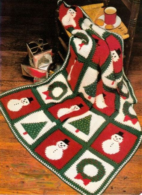 pattern christmas afghan christmas afghan crochet pattern make snowman wreath