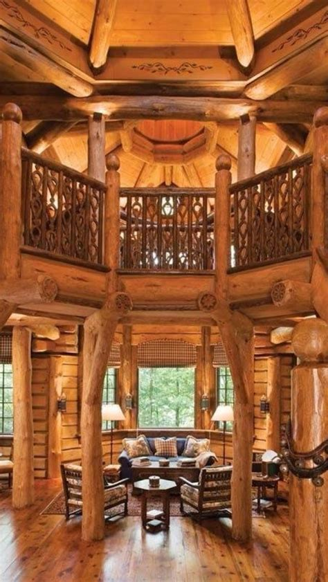 Beautiful Log Home Interiors | beautiful log home lottery winnings bucket list