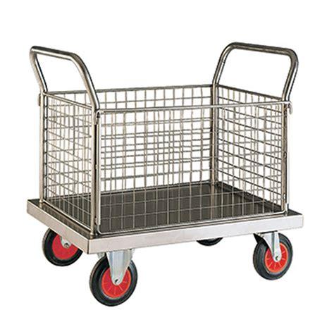 aus 8a steel quality stainless steel platform trolley industrial trolleys