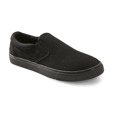 roebuck co s belden casual slip on black shoes