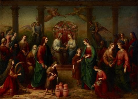 Wedding At Cana Galilee by The Marriage At Cana Of Galilee 1861 Reworked 1863 By