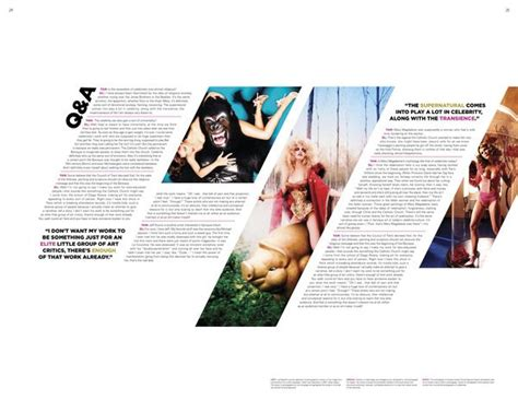 magazine layout on behance magazine spreads david lachapelle by drue davis via