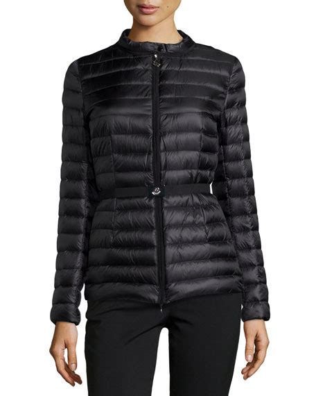 Moncler Quilted Puffer Jacket by Moncler Damas Quilted Puffer Jacket Black