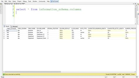 sql server list all tables get the count or list of columns of a table in sql server
