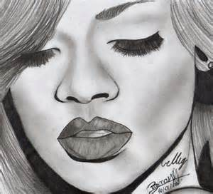 Draw On Pictures black draw drawing rihanna white image 442652 on favim com