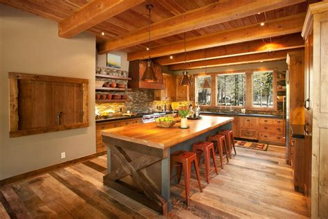 warmth and comfort rustic kitchen island kitchen island