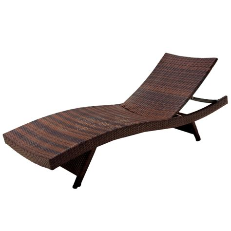 Brown Chaise Lounge Noble House Outdoor Brown Wicker Adjustable Chaise Lounge Chair Set Of 2 By Noble House At