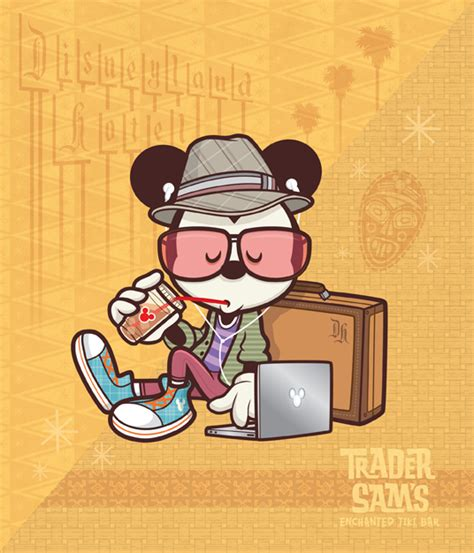 imagenes hipster mickey hipster mickey hanging at sam s jerrod maruyama illustration