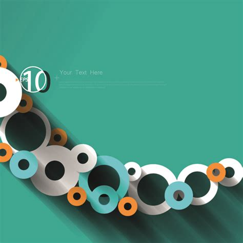 3d circle background design vector 02 over millions