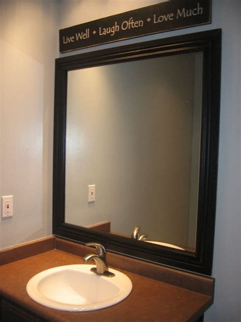 how to frame a large bathroom mirror clean and beautiful bathroom mirror frames framed mirrors