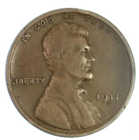 penny s semi key date 1911 s lincoln wheat cent early us copper