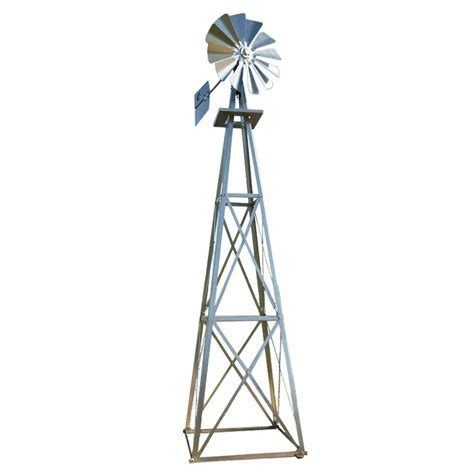 decorative windmills for homes large galvanized backyard windmill byw0003 the home depot