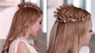 Cosplay hair style how to braid crown hairstyle for medium long hair