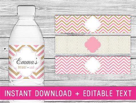 free printable bridal shower water bottle labels printable water bottle labels pink gold pink and gold