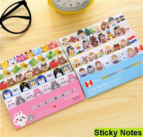 Memo Tempel Sticky Notes Post It Stick It Plester Tensoplast Sno048 1pack lot animals sticky note post it stick memo paper bookmark stationery office