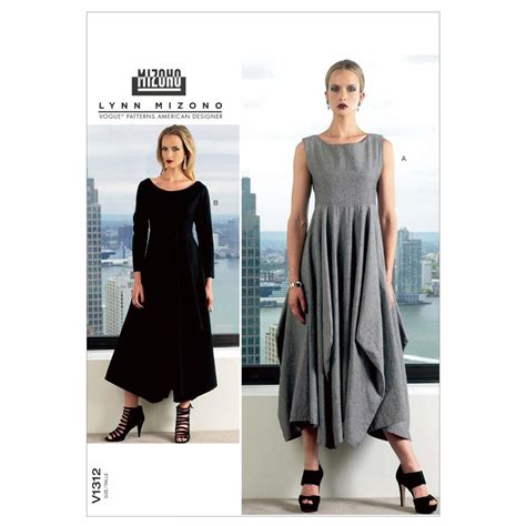 clothes pattern uk vogue misses dress pattern v1312 size b50 discount