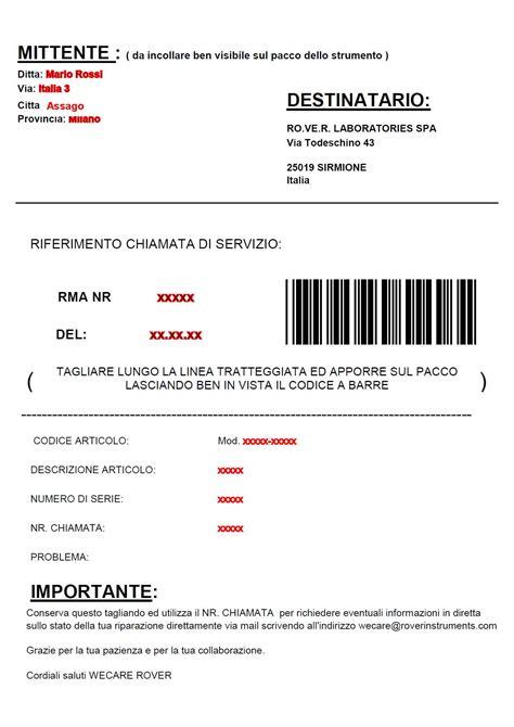 poste italiane affrancatura lettere devi far riparare uno strumento prime digital modulo rma