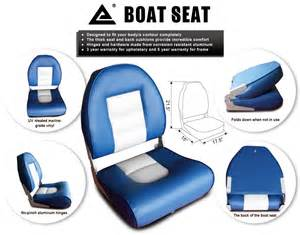 blue boat seats a pair of new marine folding boat seats 2 seats fishing