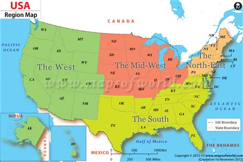 geography map of the united states the unitedstates regions map displays several