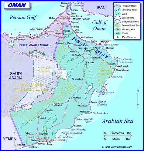 map of oman with cities oman stra 223 enkarte