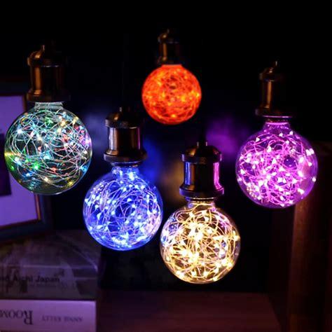 slotted base christmas bulbs new 110v 220v e27 led l lights rgb led bulb string light indoor light