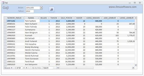 format data gaji karyawan ilmu software rancangan user interface aplikasi payroll