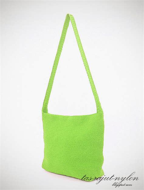 cara membuat tas rajut jogja tas rajut nylon t19