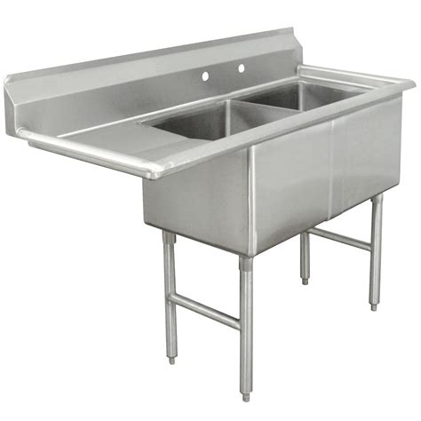 Stainless Steel Sinks Commercial by Advance Tabco Fc 2 1824 24 Two Compartment Stainless Steel