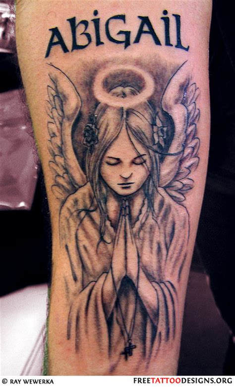 angel praying tattoo tattoos pictures font ideas