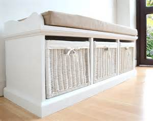 tetbury white storage bench with cushion assembled large hallway bench and seat ebay