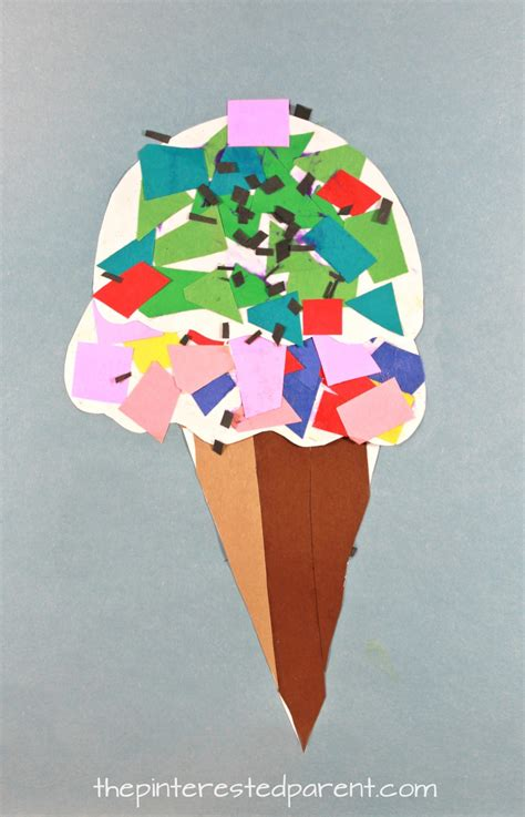 Paper Arts And Crafts For - printable paper mosaic cone the pinterested parent