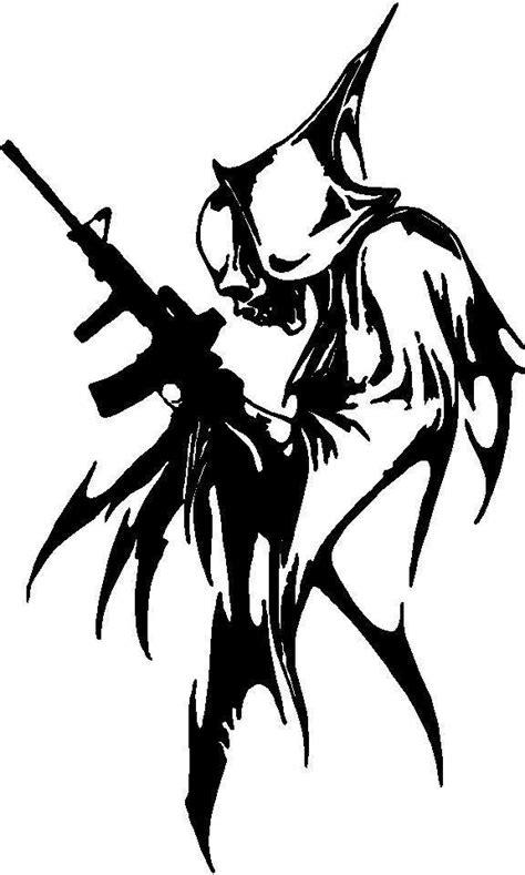 Deadpool Max Second Cut grim reaper clipart stencil pencil and in color grim