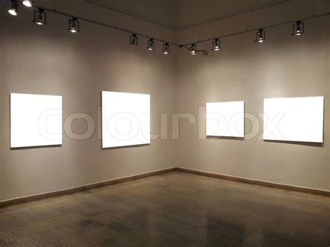 blank gallery wall gallery walls with blank frames stock photo colourbox