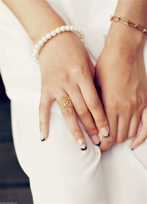 50 black and white nail designs