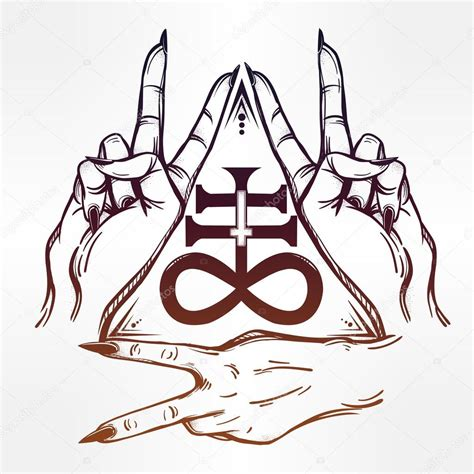 satanic cross tattoo satanic drawing at getdrawings free for personal use