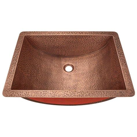 copper undermount bathroom sink polaris sinks undermount bathroom sink in copper p629