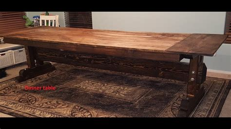 how to build a rustic farmhouse table diy rustic farmhouse dining table big
