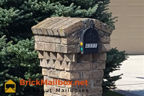 how to decorate a square brick mailbox for christmas brick mailbox designs brickmailbox net